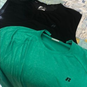 Lot of 2 Men's Russell workout training shirts 3XL